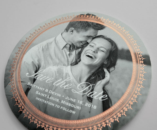 save-the-date card from the 'Antoinette' wedding invitation