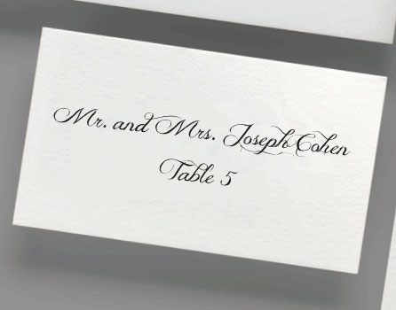 PRINTING DIGITAL CALLIGRAPHY FOR PLACE CARDS