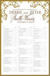 Fancy Border - Table Plan Seating Chart Scroll