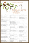 Love Birds - Table Plan Seating Chart Scroll