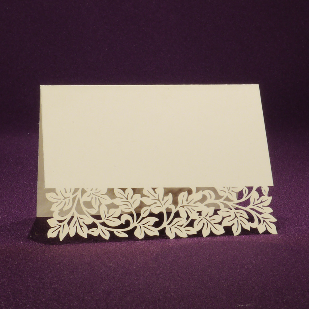 Laser Cut Place Card - Clara Ivory | 25 Blank Place Cards
