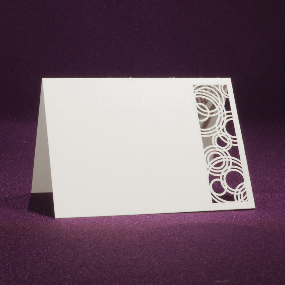 Laser Cut Place Card - Eternal Wedding Rings | 25 Blank Place Cards